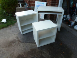White Desk set 4 pieces