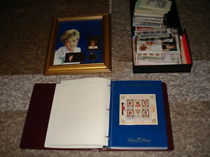 Massive Princess Diana Mint stamp collection.REDUCED $100.00-OFF