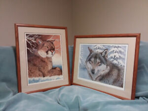 Randy Fehr - Wolf and Cougar companion prints