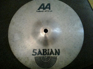 2 moderately cracked cymbals