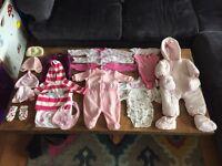 3-6 month Autumn/Winter pink purple baby bundle