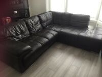 Brown Leather corner sofa from DFS (was £2500 new)