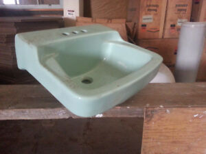 Retro look sinks, with Canadian Heritage