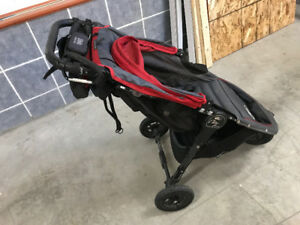 Red Baby Jogger City Mini GT with car seat adapter!