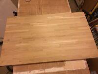 Howdens Solid Wood Worktop Rustic Oak Block 40mm worktop