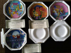 SIMPSONS COLLECTOR PLATES FRANKLIN MINT
