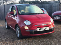 2013 FIAT 500 1.2 LOUNGE**LOW MILES**2 OWNERS**£5295**£30 ROAD TAX**