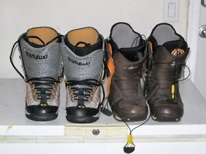 SNOWBOARDS AND BOOTS