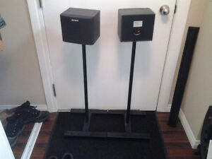 speaker stands with sony speakers Edmonton Edmonton Area image 1