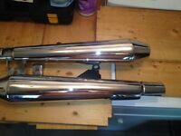 2012 Triumph Bonneville SE factory exhaust slip on cones.