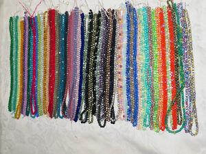 Wholesale Bulk Giant Lot czech fire-polished beads : 54 colors ,crystal , 4mm