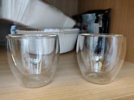 2 Espresso glasses