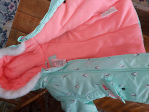12 month girl carters winter coat perfect condition