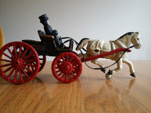 Cast Iron Horse and Buggy and Train Collectibles