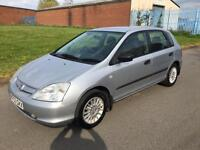 Honda Civic 1.7i CTDi S + 2003/53 + MARCH 17 MOT + DIESEL + BARGAIN +