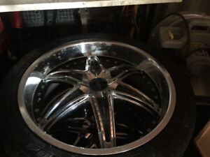 I have 4 22inch black and chrome rims
