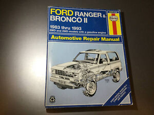 Ford Ranger & Bronco II 1983-1993 Shop Service Manual 4x4 2WD