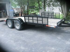 2014 car trailer  18 ft beaver  tail