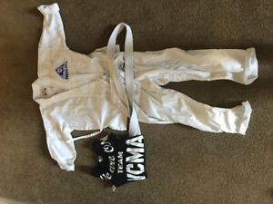 Karate Gi's for World championship martial arts size 0 and 000.