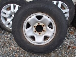 LT245/75R16 Studded Winter Tires on Toyota 6 hole Rims