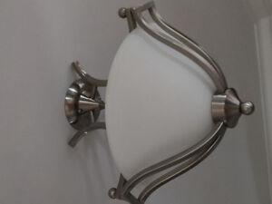 3-light semi-flush ceiling light