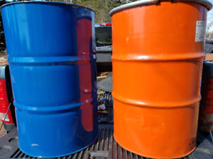45 gallon steel drums