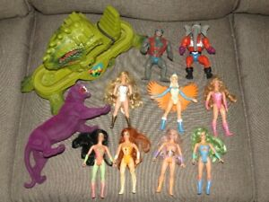 Vintage He-Man & She-Ra Action Figure and Vehicle Lot