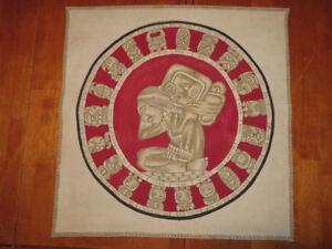 Toile sur cuir Mexicain - Maya