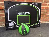 Kipsta wall mounted basketball net and ball