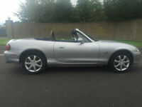 2002 02 MAZDA MX-5 1.6 CONVERTIBLE IN SILVER