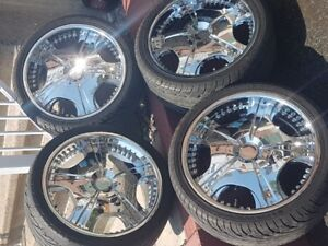 Great Condition!! 20 inch Chrome Rims - Tires 255/35ZR20