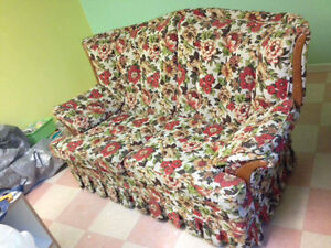 Old daycare furniture. Chairs, tables, nap mats, couch