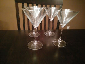4 brand new Mikasa martini glasses