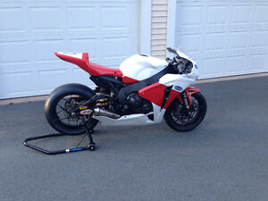Reduced to move:  Championship winning Superbike