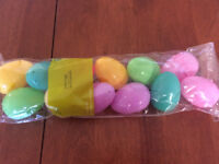 Easter eggs plastic  (12 in pack)  ONLY 60cents!  Brand New