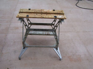 Folding Black and Decker Workmate.