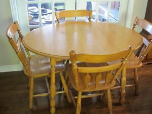 Solid Birch Table and 4 Chairs
