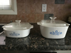 CORNING WARE CASSEROLES WITH LID