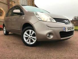 *12 MTHS WARRANTY*2010(10)NISSAN NOTE 1.4 ACENTA 5DR WITH 70K 1 FORM KEEPER*