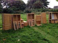 FREE - wood kitchen wall units with dovetail joints - now taken