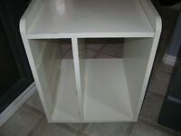 small white end or bedside table