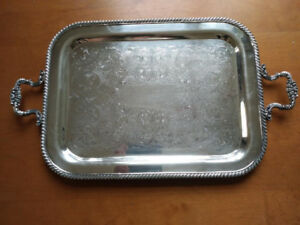 Vintage Baronet silver plate tray