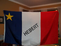 Acadian Flag / Name HEBERT