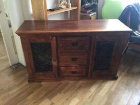 Solid wood rustic sideboard