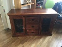 Solid wood rustic sideboard