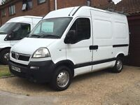 2006/06 Vauxhall Movano 3300 swb hi top, roof rack, ladders and workshop.