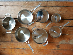 T-fal Jamie Oliver Copper Star Stainless Steel Pots and Pans