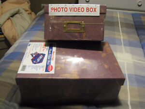 Two - Heavy Duty Photo Boxes - Store Wedding_Baby_Sports_Items