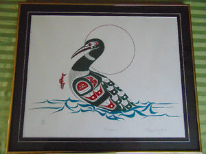 Richard Shorty : Minnows: Limited Edition Print 1992  s/n London Ontario image 1