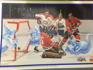 Montreal Canadiens McDonalds Ghosts of the Forum placemats 1996